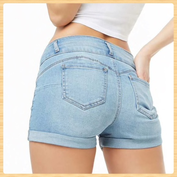 Forever 21 Pants - New Forever21 Cuffed Denim Shorts